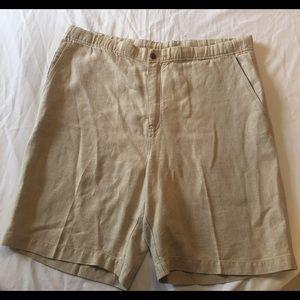 Tommy Bahama Mens Size Medium Linen Tan Shorts